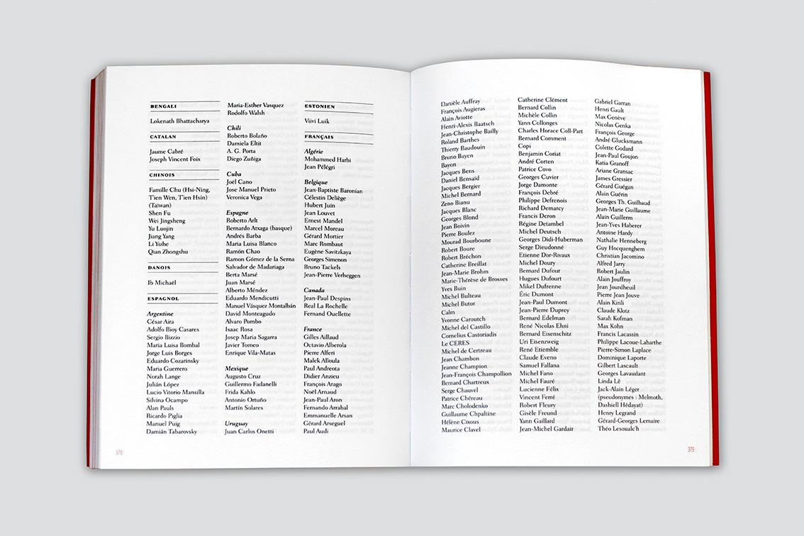 Catalogue 50 ans Christian Bourgois éditeur