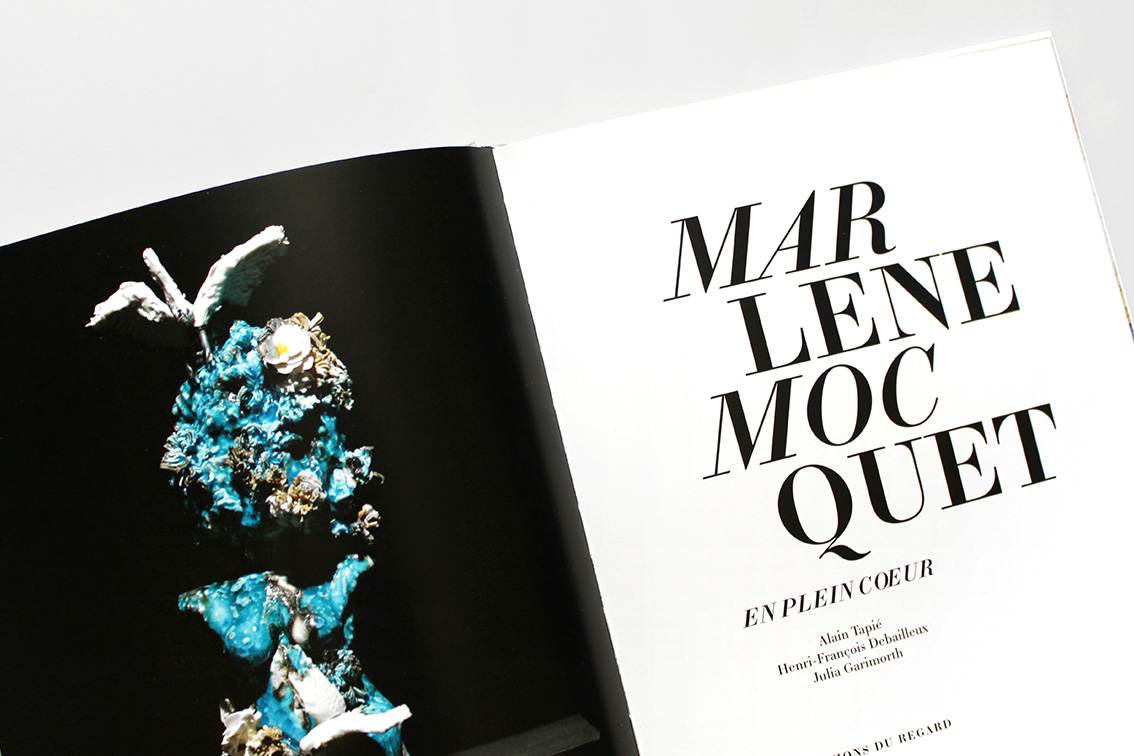 Conception graphique du livre sur la modéliste Michèle Rosier, 136 pages, publié aux Editions du Regard, Paris.